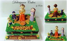 Chota Bheem with friends - Ddesigner Cakes by Rinku in Mumbai. - www.facebook.com/ddesignercakes -  ddesignercakes@gmail.com