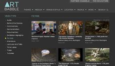 Free Technology for Teachers: Art Babble - Videos and Lessons In Art History