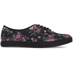 VANS Authentic Lo Pro (Floral) shoes ($30) ❤ liked on Polyvore
