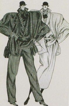 Looks Familiar: Power suit — Thrifty Dreams Fashion Sketchbook, Fashion Illustration Sketches, Fashion Design Sketches, Illustrations, 80s And 90s Fashion, Retro Fashion, Vintage Fashion, Fashion History, Fashion Art
