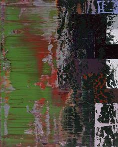 Tableau abstrait [864-9] » Œuvres » Gerhard Richter Abstraktes Bild Tableau abstrait 2000 50 cm x 40 cm Catalogue Raisonné: 864-9 Huile sur Alu Dibond