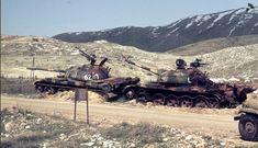 Two Syrian T-54/55 tanks were destroyed, Yom Kippur War.