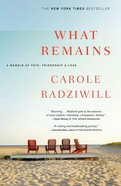 What Remains: A Memoir of Fate, Friendship, and Love by Carole Radziwill. Beautifully written memoir about the loss of her husband Anthony and best friends Carolyn and John Kennedy Jr. within the span of a few weeks. I Love Books, Great Books, Books To Read, My Books, This Book, Reading Lists, Book Lists, Reading Room, Carole Radziwill