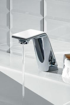 """Sense"" is a family of smart faucets where beauty has a holistic meaning that is present in the way they are built and how they behave. The goal of these sculptural objects, is to guide the user into virtuous behaviors that are aimed to save water, generating positive rituals that will benefit the environment. Due to their smart functions that include the automatic stop of the water flow, these faucets allow the user to save lots of water on the daily rituals that involve water cons..."