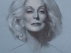 "Second Study of Carmen dell""Orefice by artist Graydon Parrish"