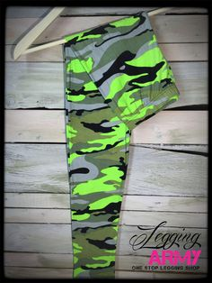 Mean Green Camo - Legging Army   Shipping is always free in the USA.  http://leggingarmy.com/#KimzLeggings