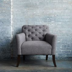 Love this tufted chair from West Elm!