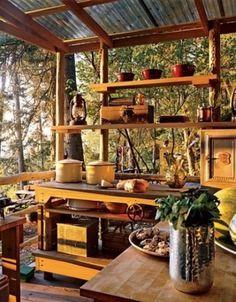 Outdoor kitchen ftw! <3 45 Creative Small Kitchen Design Ideas
