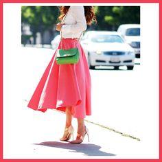 Dark pink midi skirt Book here: http://fabity.com/ Curated By Fabity <3