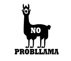 No Probllama Decal / Sticker. Fun gift No Problem - No Worries. This decal is precision cut and has no background. The color of the decal is the colour you choose and the background is what you stick it onto. Car Decals, Bumper Stickers, Vinyl Decals, Car Window Decals, Ipad, Funny Decals, Silhouette Curio, Marken Logo, Monogram Decal