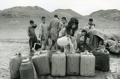 In Shamsabad refugee settlement in Iran, Afghan refugees receive clean water from a traditional irrigation system. UNHCR/ A. Hollmann/ June 1993