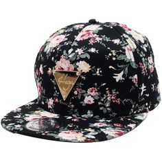 Zeagoo Floral Flower Snapback Hip-Hop Hat Flat Peaked Adjustable... ( 20 e8fe131b9db3