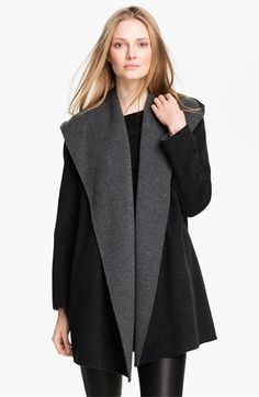 Vince Two Tone Draped Coat | Nordstrom