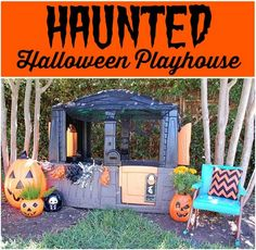 DIY Spooky Halloween Playhouse