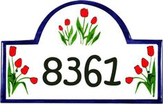 Classy Plaques Store - Tulip Flowers Address Signs and House Plaques, $179.00…