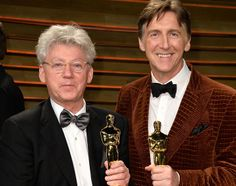 Filmmakers Malcolm Clarke (L) and Nicholas Reed attend the 2014 Vanity Fair Oscar Party hosted by Graydon Carter on March 2, 2014 in West Ho...