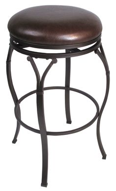Lakeview swivel, heavy gauge tubular steel in a coppery brown, faux leather seat cover by Hillsdale