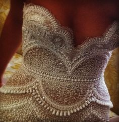 Pearl-Encrusted Bodice. Literally beautiful
