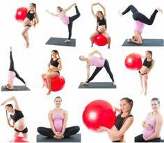 rutina con pelota para embarazadas