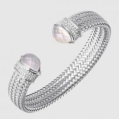 MLC8290WZQMD - MOTHER OF PEARL DOUBLET & CZ CUFF, UPTOWN, 12MM Doublet, Sterling Silver Bracelets, Gold Jewelry, Wedding Rings, Pearl, Engagement Rings, Jewels, Stone, Enagement Rings