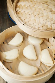 chinese steamed lotus leaf buns recipe | use real butter