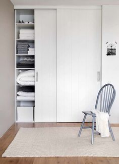 51 How to Build a Wall of Closets from Scratch That You Can Try in Your Home # Bedroom Wardrobe, Bedroom Doors, Home Bedroom, Girls Bedroom, Bedroom Ideas, Ideas Armario, Bedroom Door Decorations, Sliding Cupboard, Build A Wall