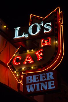 Lo's Cafe Vintage Neon Sign Route 66 by AroundTheGlobeImages, $30.00