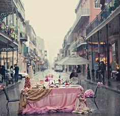 Tea party in the rain