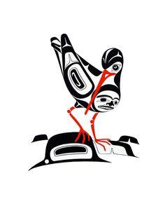 Vintage 1985 Oystercatcher Serigraph Print x Signed Northwest Coast Native Art Inuit Kunst, Arte Inuit, Inuit Art, Native American Totem, Native American Design, American Indian Art, Kunst Der Aborigines, Haida Art, Canadian Art