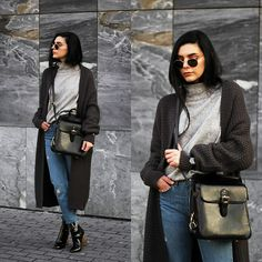 Get this look: http://lb.nu/look/8543995  More looks by Holynights Claudia: http://lb.nu/holynights  Items in this look:  Na Kd Turtleneck Sweater, Romwe Oversized Cardigan, Vipme Bag, Ego Boots   #casual #chic #street