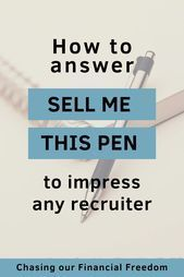 """You know that one question that seems to pop up on every sales-related job interview? Check out the article an learn how to properly answer to """"Sell me this pen"""" interview question! Common Job Interview Questions, Job Interview Preparation, Job Interview Tips, Job Interviews, Sales Skills, Sales Techniques, Sales Jobs, Job Info"""