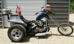 Photo of 1982 Sportster Trike with 1974 Ironhead Engine and Frame and Harley Servicar rear end.