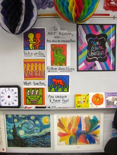 Cassie Stephens: In the Art Room: Those First Days of Art Class,  Virtual tour of art room