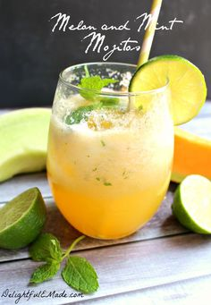 Melon and Mint Mojito by DelightfulEMade.com