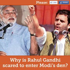 Why is Rahul Gandhi scared to enter Modi's den? | MODI TO WIN