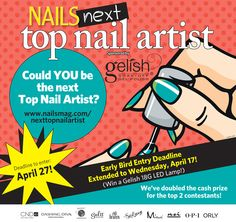 Be a part of the Action!!  Watch this online reality show inspired contest! Vote each week to keep your favorite contestant in the running for the Next Top Nail Artist!!  www.ntna.nailsmag.com  See You There!