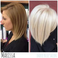 Marissa Pence shares how she used the Platinum Card on the receptionist at the salon. Since she is at the front of the salon and works directly with all of our wonderful guests, I wanted to make sure her hair is taken care of . Langer Bob, Corte Y Color, Hair Color And Cut, Platinum Blonde Hair, Great Hair, Hair Dos, Pretty Hairstyles, Updo Hairstyle, Wedding Hairstyles