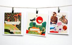 Collage greetings card - Darling Clementine. printy printy printy