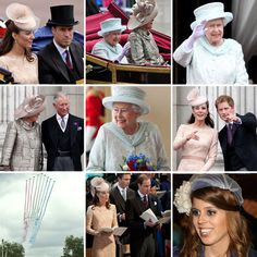 Queen Elizabeth II's family, along with thousands of Britons, attended a thanksgiving service for the monarch's 60-year reign today at St. Paul's Cathedral in London. Today had the spirit of last year's royal wedding, with the royal family, including Prince William, Kate Middleton, and Prince Harry, dressed in their best to make their way to a service, this time at St. Paul's Cathedral. The queen traveled in her state Bentley with a lady in waiting, of course. The service honored the queen.