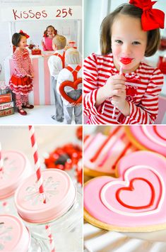 Valentine's Day Party | Kissing Booth - would be adorable with mom/dad and kid(s)