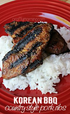 Korean BBQ Country Style Pork Ribs Recipe - This marinade is TO DIE FOR! | CraftyMorning.com