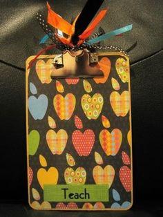gift for student teacher clipboard