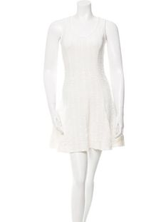 White Rag & Bone mini dress with ruched accents throughout and concealed zip closure at side.