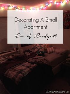 Decorating a Small Apartment {On A Budget}