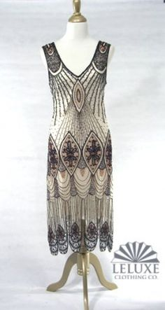 black white beaded flapper dress, 1920's inspired dress