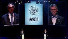 Mauricio Macri y Daniel Scioli debatieron a una semana de segunda vuelta en Argentina