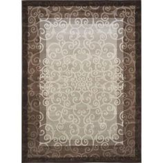 Home Dynamix Melissa Cream/Brown 7 ft. 8 in. x 10 ft. 2 in. Indoor Area Rug - 1-HD4752-131 - The Home Depot