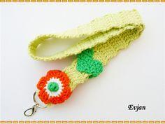 ♥ Schlüsselband Blume ♥ von Evjan auf DaWanda.com
