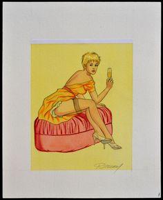 Renaud - Original drawing for an Ex-Libris - Jessica Blandy - W.B.