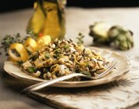 Yummy artichokes in this California Wild Rice Athena!